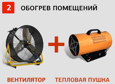 Комплект для эффективного обогрева помещения – Генпрокат